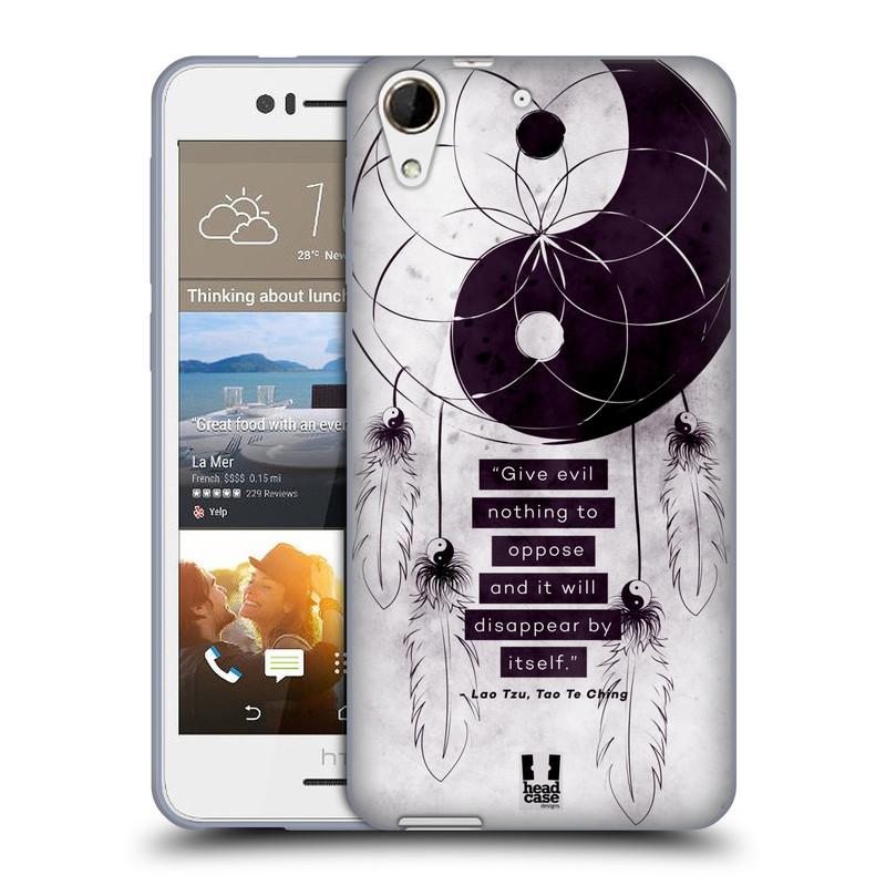 Silikonové pouzdro na mobil HTC Desire 728G Dual SIM HEAD CASE YIn a Yang CATCHER (Silikonový kryt či obal na mobilní telefon HTC Desire 728 G Dual SIM)