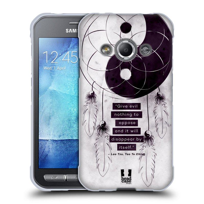 Silikonové pouzdro na mobil Samsung Galaxy Xcover 3 HEAD CASE YIn a Yang CATCHER (Silikonový kryt či obal na mobilní telefon Samsung Galaxy Xcover 3 SM-G388F)