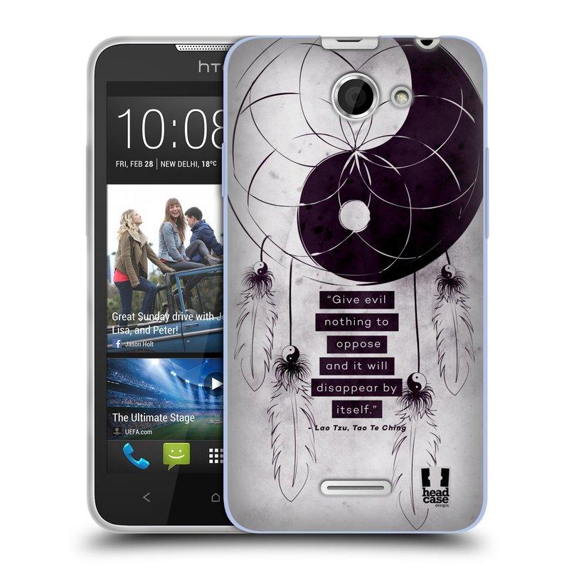 Silikonové pouzdro na mobil HTC Desire 516 HEAD CASE YIn a Yang CATCHER (Silikonový kryt či obal na mobilní telefon HTC Desire 516 Dual SIM)