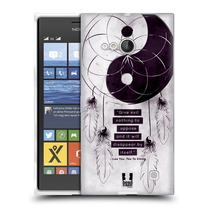 Silikonové pouzdro na mobil Nokia Lumia 730 Dual SIM HEAD CASE YIn a Yang CATCHER (Silikonový kryt či obal na mobilní telefon Nokia Lumia 730 Dual SIM)