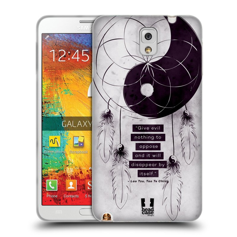 Silikonové pouzdro na mobil Samsung Galaxy Note 3 HEAD CASE YIn a Yang CATCHER (Silikonový kryt či obal na mobilní telefon Samsung Galaxy Note 3 SM-N9005)