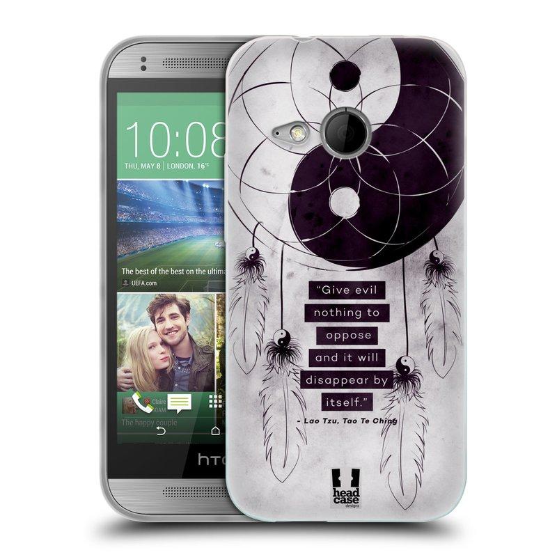 Silikonové pouzdro na mobil HTC ONE Mini 2 HEAD CASE YIn a Yang CATCHER (Silikonový kryt či obal na mobilní telefon HTC ONE Mini 2)