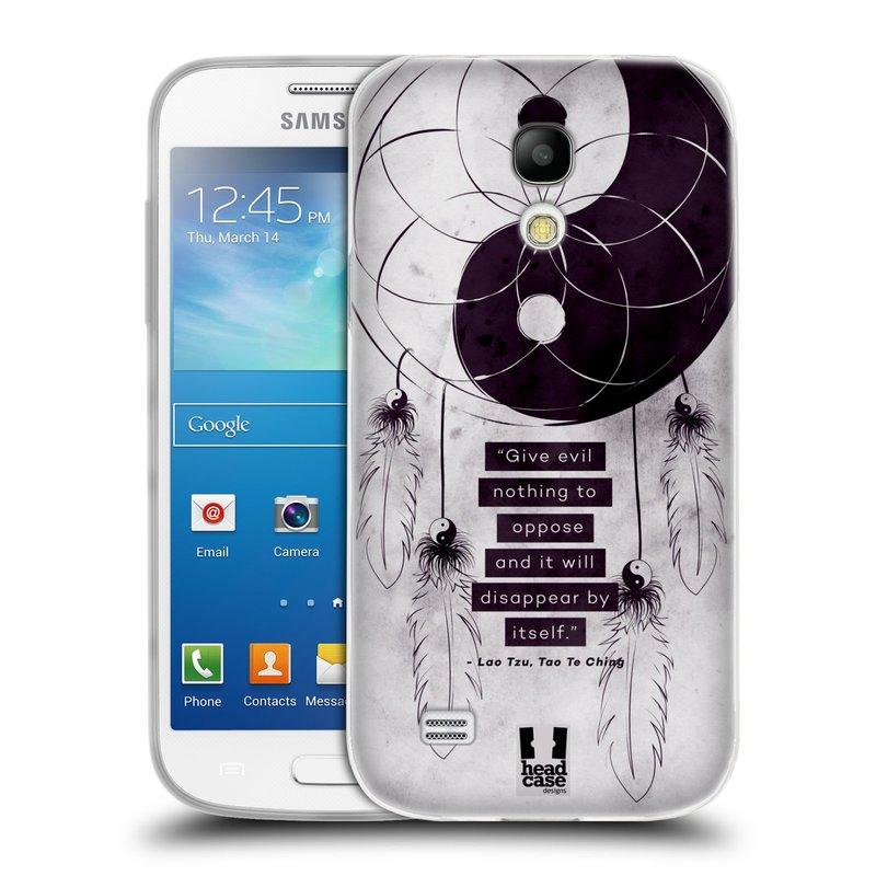 Silikonové pouzdro na mobil Samsung Galaxy S4 Mini HEAD CASE YIn a Yang CATCHER (Silikonový kryt či obal na mobilní telefon Samsung Galaxy S4 Mini GT-i9195 / i9190 (nepasuje na verzi Black Edition))