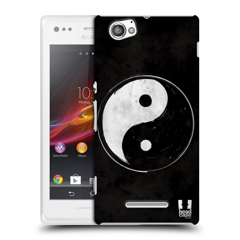 Plastové pouzdro na mobil Sony Xperia M C1905 HEAD CASE Yin a Yang BW (Kryt či obal na mobilní telefon Sony Xperia M a M Dual)