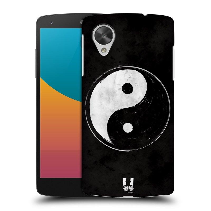 Plastové pouzdro na mobil LG Nexus 5 HEAD CASE Yin a Yang BW (Kryt či obal na mobilní telefon LG Google Nexus 5 D821)