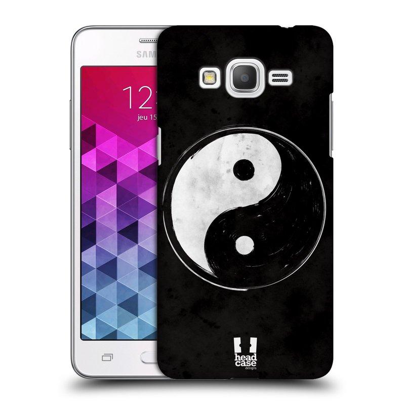 Plastové pouzdro na mobil Samsung Galaxy Grand Prime HEAD CASE Yin a Yang BW (Kryt či obal na mobilní telefon Samsung Galaxy Grand Prime SM-G530)