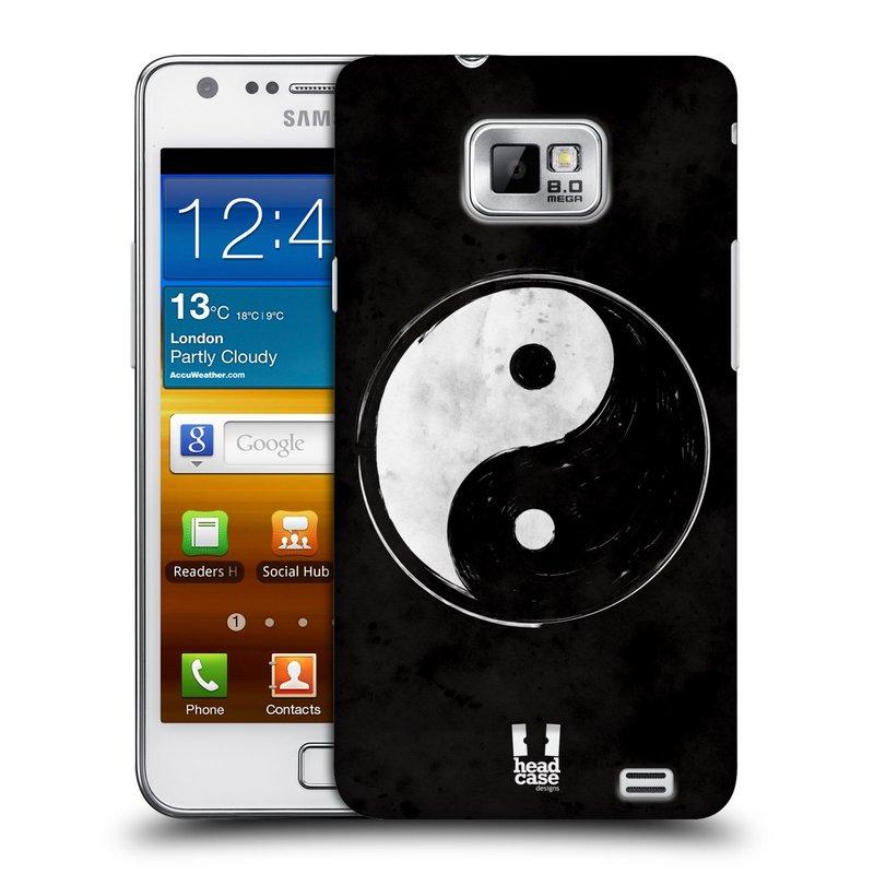 Plastové pouzdro na mobil Samsung Galaxy S II HEAD CASE Yin a Yang BW (Kryt či obal na mobilní telefon Samsung Galaxy S II GT-i9100)