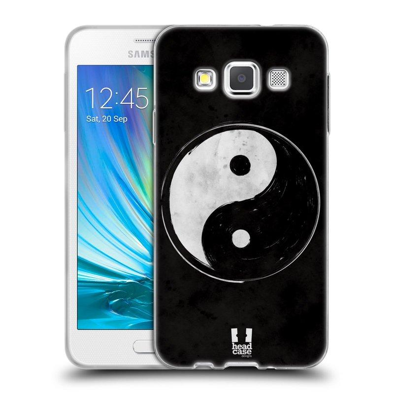 Silikonové pouzdro na mobil Samsung Galaxy A3 HEAD CASE YIn a Yang BW (Silikonový kryt či obal na mobilní telefon Samsung Galaxy A3 SM-A300)