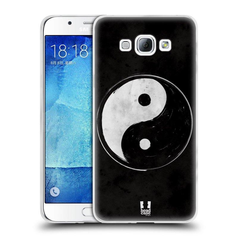 Silikonové pouzdro na mobil Samsung Galaxy A8 HEAD CASE YIn a Yang BW (Silikonový kryt či obal na mobilní telefon Samsung Galaxy A8 SM-A800)