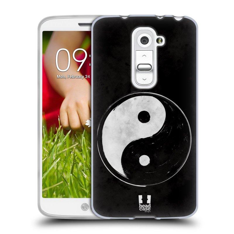 Silikonové pouzdro na mobil LG G2 Mini HEAD CASE YIn a Yang BW (Silikonový kryt či obal na mobilní telefon LG G2 Mini D620)
