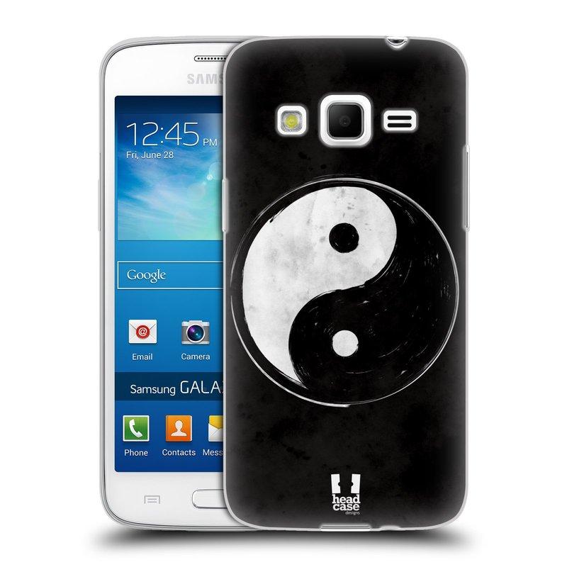 Silikonové pouzdro na mobil Samsung Galaxy Express 2 HEAD CASE YIn a Yang BW (Silikonový kryt či obal na mobilní telefon Samsung Galaxy Express 2 SM-G3815)