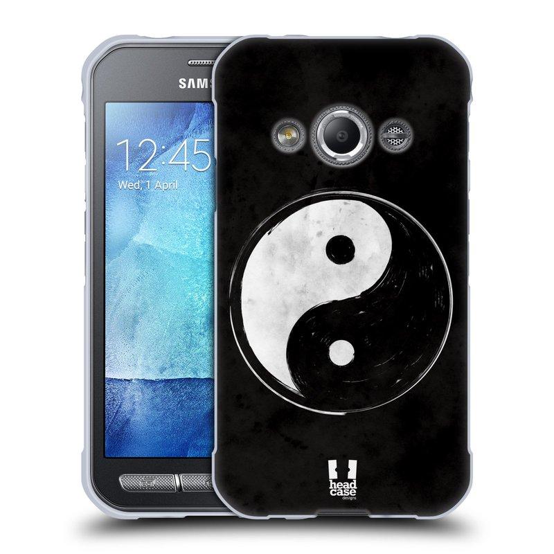 Silikonové pouzdro na mobil Samsung Galaxy Xcover 3 HEAD CASE YIn a Yang BW (Silikonový kryt či obal na mobilní telefon Samsung Galaxy Xcover 3 SM-G388F)