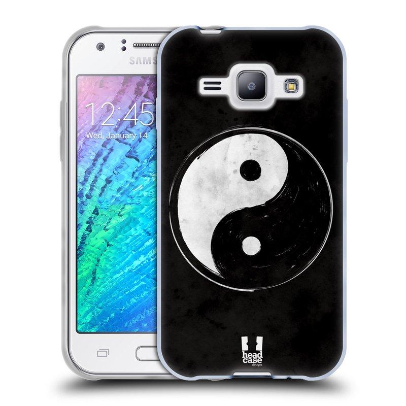 Silikonové pouzdro na mobil Samsung Galaxy J1 HEAD CASE YIn a Yang BW (Silikonový kryt či obal na mobilní telefon Samsung Galaxy J1 a J1 Duos)