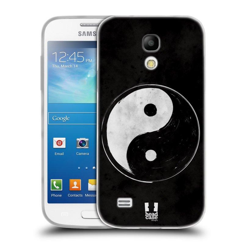 Silikonové pouzdro na mobil Samsung Galaxy S4 Mini HEAD CASE YIn a Yang BW (Silikonový kryt či obal na mobilní telefon Samsung Galaxy S4 Mini GT-i9195 / i9190 (nepasuje na verzi Black Edition))