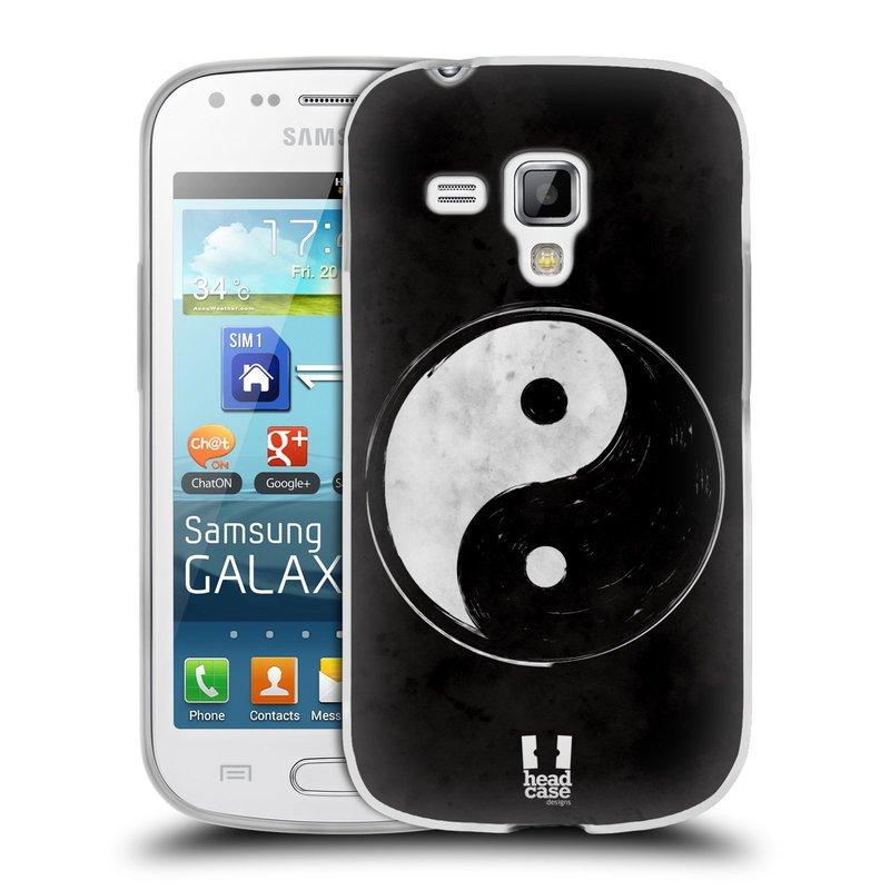Silikonové pouzdro na mobil Samsung Galaxy S Duos HEAD CASE YIn a Yang BW (Silikonový kryt či obal na mobilní telefon Samsung Galaxy S Duos GT-S7562)