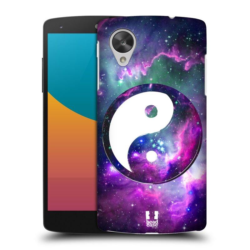 Plastové pouzdro na mobil LG Nexus 5 HEAD CASE Yin a Yang PURPLE (Kryt či obal na mobilní telefon LG Google Nexus 5 D821)