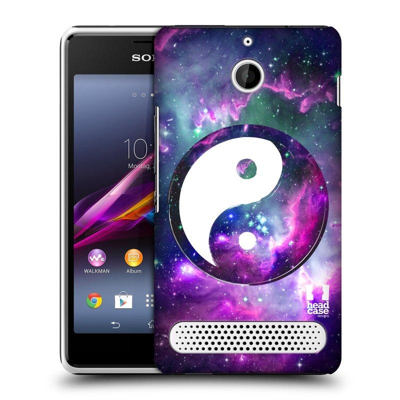 Plastové pouzdro na mobil Sony Xperia E1 D2005 HEAD CASE Yin a Yang PURPLE (Kryt či obal na mobilní telefon Sony Xperia E1 a E1 Dual )