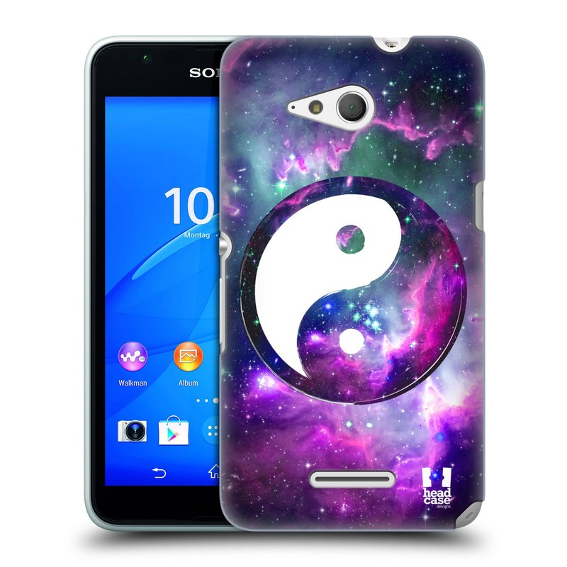 Plastové pouzdro na mobil Sony Xperia E4g E2003 HEAD CASE Yin a Yang PURPLE (Kryt či obal na mobilní telefon Sony Xperia E4g a E4g Dual SIM)