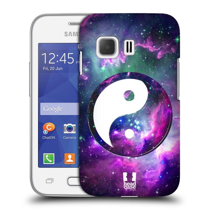 Plastové pouzdro na mobil Samsung Galaxy Young 2 HEAD CASE Yin a Yang PURPLE (Kryt či obal na mobilní telefon Samsung Galaxy Young 2 SM-G130)