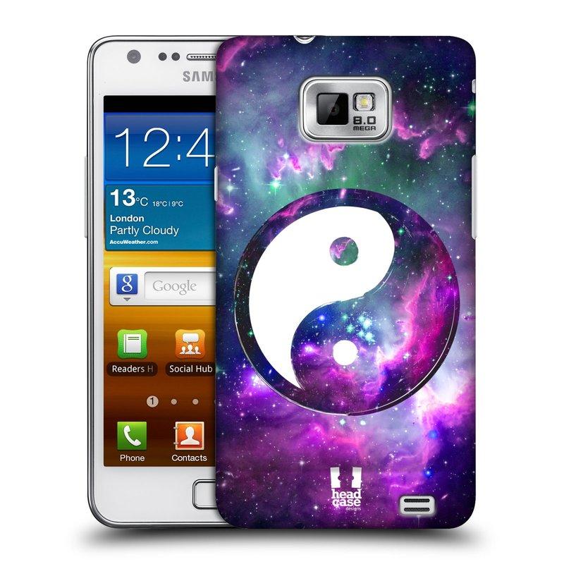 Plastové pouzdro na mobil Samsung Galaxy S II HEAD CASE Yin a Yang PURPLE (Kryt či obal na mobilní telefon Samsung Galaxy S II GT-i9100)