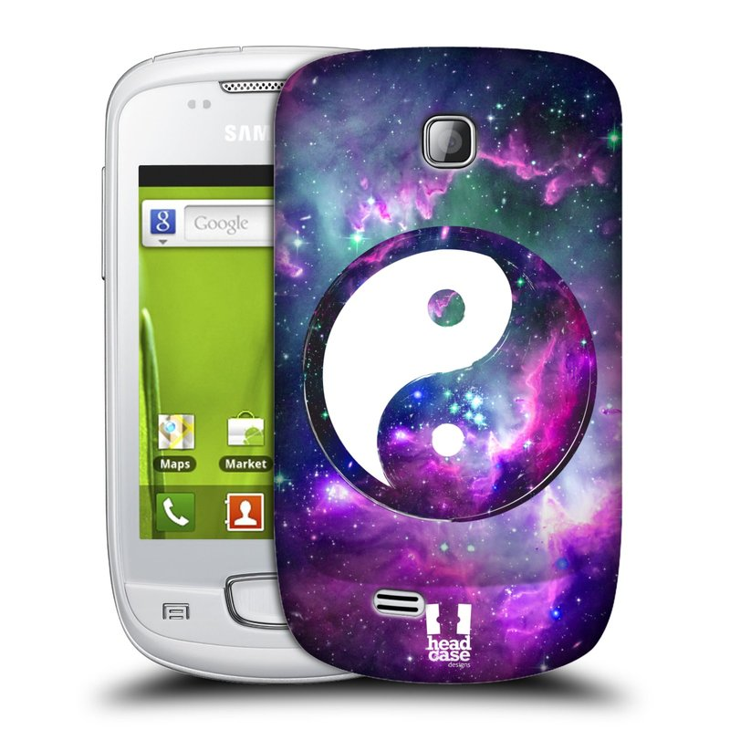 Plastové pouzdro na mobil Samsung Galaxy Mini HEAD CASE Yin a Yang PURPLE (Kryt či obal na mobilní telefon Samsung Galaxy Mini GT-S5570 / GT-S5570i)
