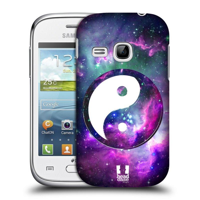 Plastové pouzdro na mobil Samsung Galaxy Young HEAD CASE Yin a Yang PURPLE (Kryt či obal na mobilní telefon Samsung Galaxy Young GT-S6310)