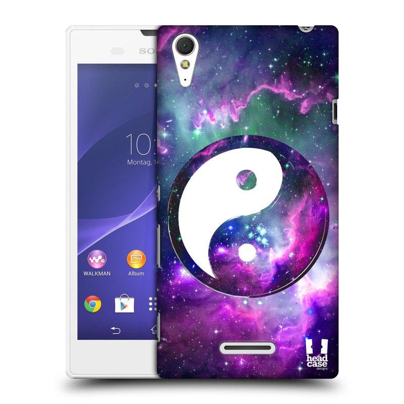 Plastové pouzdro na mobil Sony Xperia T3 D5103 HEAD CASE Yin a Yang PURPLE (Kryt či obal na mobilní telefon Sony Xperia T3 )