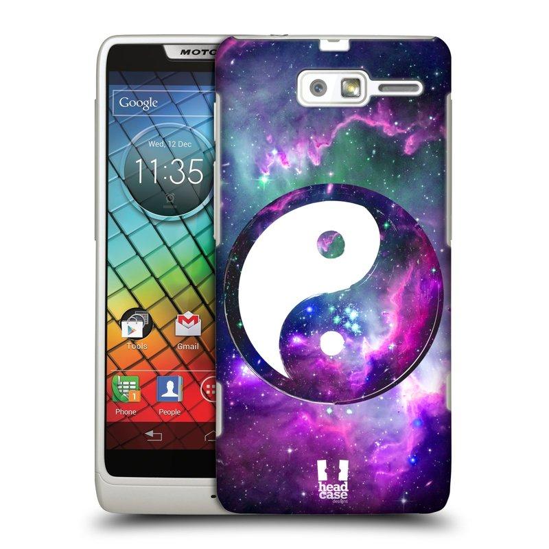 Plastové pouzdro na mobil Motorola Razr i XT890 HEAD CASE Yin a Yang PURPLE (Kryt či obal na mobilní telefon Motorola Razr i XT890)