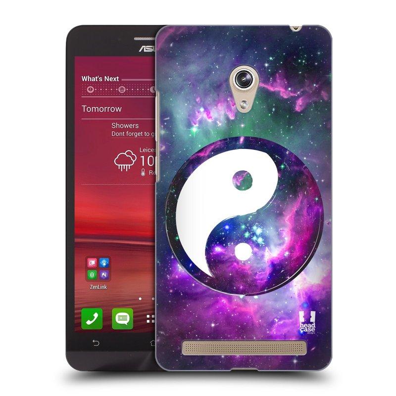 Plastové pouzdro na mobil Asus Zenfone 6 HEAD CASE Yin a Yang PURPLE (Kryt či obal na mobilní telefon Asus Zenfone 6 A600CG / A601CG)