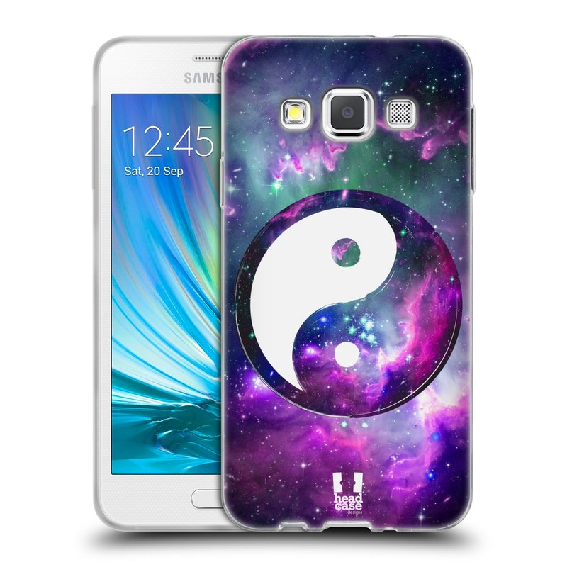 Silikonové pouzdro na mobil Samsung Galaxy A3 HEAD CASE YIn a Yang PURPLE (Silikonový kryt či obal na mobilní telefon Samsung Galaxy A3 SM-A300)