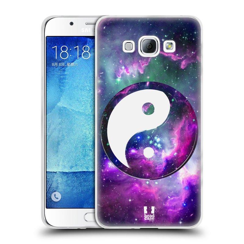 Silikonové pouzdro na mobil Samsung Galaxy A8 HEAD CASE YIn a Yang PURPLE (Silikonový kryt či obal na mobilní telefon Samsung Galaxy A8 SM-A800)