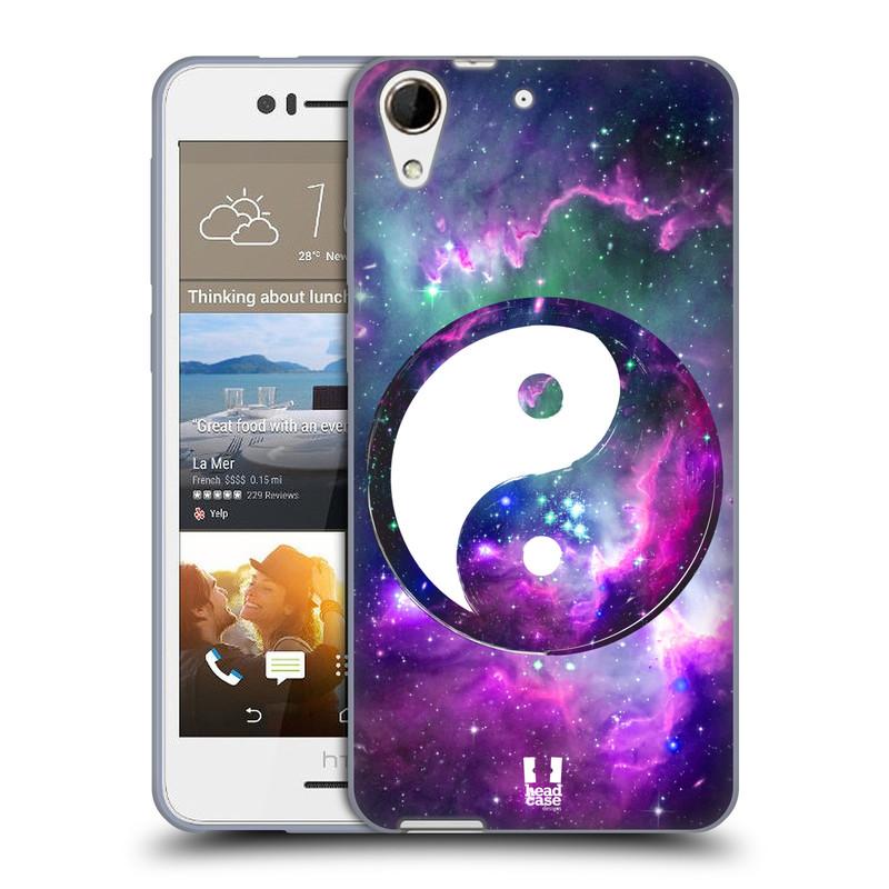 Silikonové pouzdro na mobil HTC Desire 728G Dual SIM HEAD CASE YIn a Yang PURPLE (Silikonový kryt či obal na mobilní telefon HTC Desire 728 G Dual SIM)