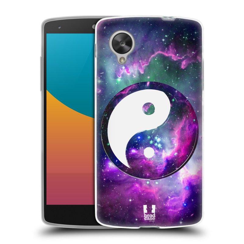 Silikonové pouzdro na mobil LG Nexus 5 HEAD CASE YIn a Yang PURPLE (Silikonový kryt či obal na mobilní telefon LG Google Nexus 5 D821)