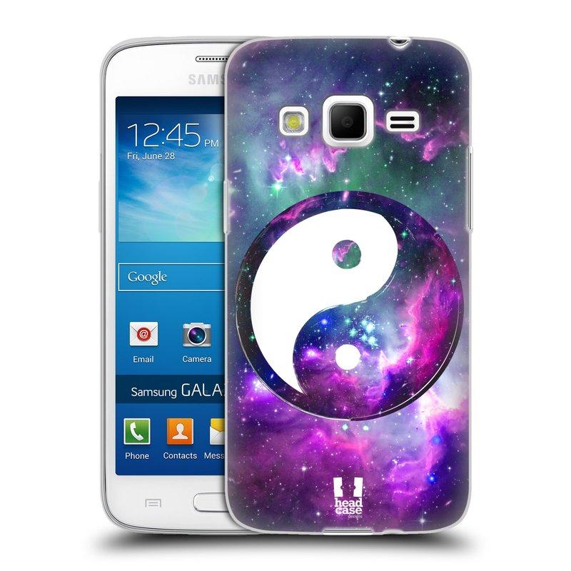 Silikonové pouzdro na mobil Samsung Galaxy Express 2 HEAD CASE YIn a Yang PURPLE (Silikonový kryt či obal na mobilní telefon Samsung Galaxy Express 2 SM-G3815)