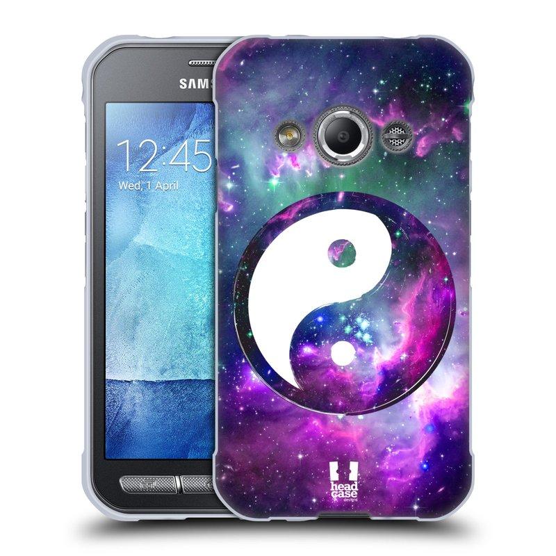 Silikonové pouzdro na mobil Samsung Galaxy Xcover 3 HEAD CASE YIn a Yang PURPLE (Silikonový kryt či obal na mobilní telefon Samsung Galaxy Xcover 3 SM-G388F)