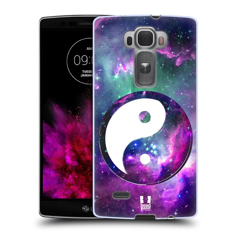 Silikonové pouzdro na mobil LG G Flex 2 HEAD CASE YIn a Yang PURPLE (Silikonový kryt či obal na mobilní telefon LG G Flex 2 H955)