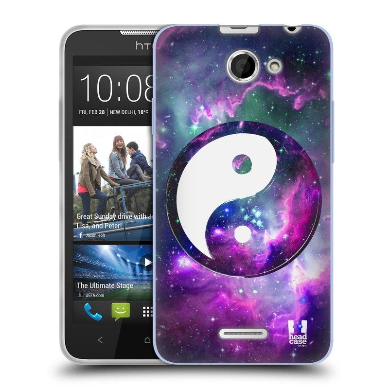 Silikonové pouzdro na mobil HTC Desire 516 HEAD CASE YIn a Yang PURPLE (Silikonový kryt či obal na mobilní telefon HTC Desire 516 Dual SIM)