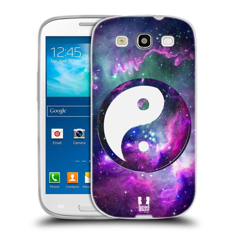Silikonové pouzdro na mobil Samsung Galaxy S3 Neo HEAD CASE YIn a Yang PURPLE (Silikonový kryt či obal na mobilní telefon Samsung Galaxy S3 Neo GT-i9301i)