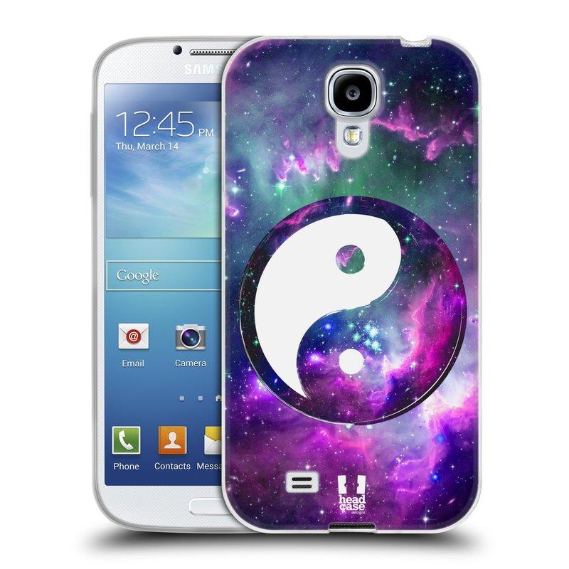 Silikonové pouzdro na mobil Samsung Galaxy S4 HEAD CASE YIn a Yang PURPLE (Silikonový kryt či obal na mobilní telefon Samsung Galaxy S4 GT-i9505 / i9500)