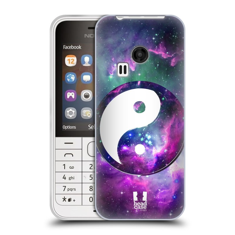 Silikonové pouzdro na mobil Nokia 220 HEAD CASE YIn a Yang PURPLE (Silikonový kryt či obal na mobilní telefon Nokia 220 a 220 Dual SIM)