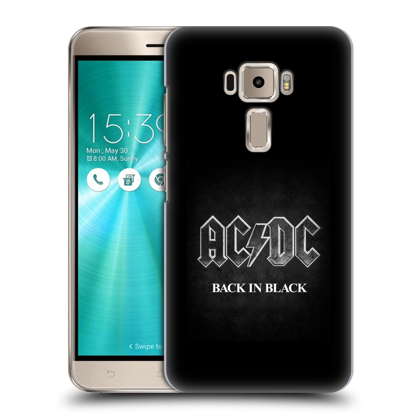 Plastové pouzdro na mobil Asus ZenFone 3 ZE520KL HEAD CASE AC/DC BACK IN BLACK