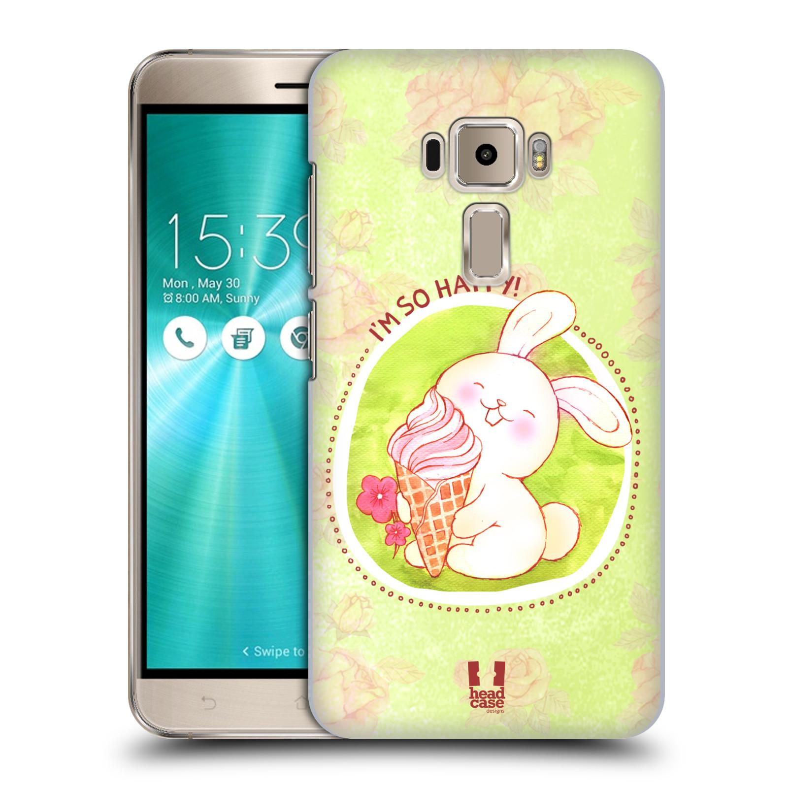 Plastové pouzdro na mobil Asus ZenFone 3 ZE520KL HEAD CASE KRÁLÍČEK A ZMRZKA