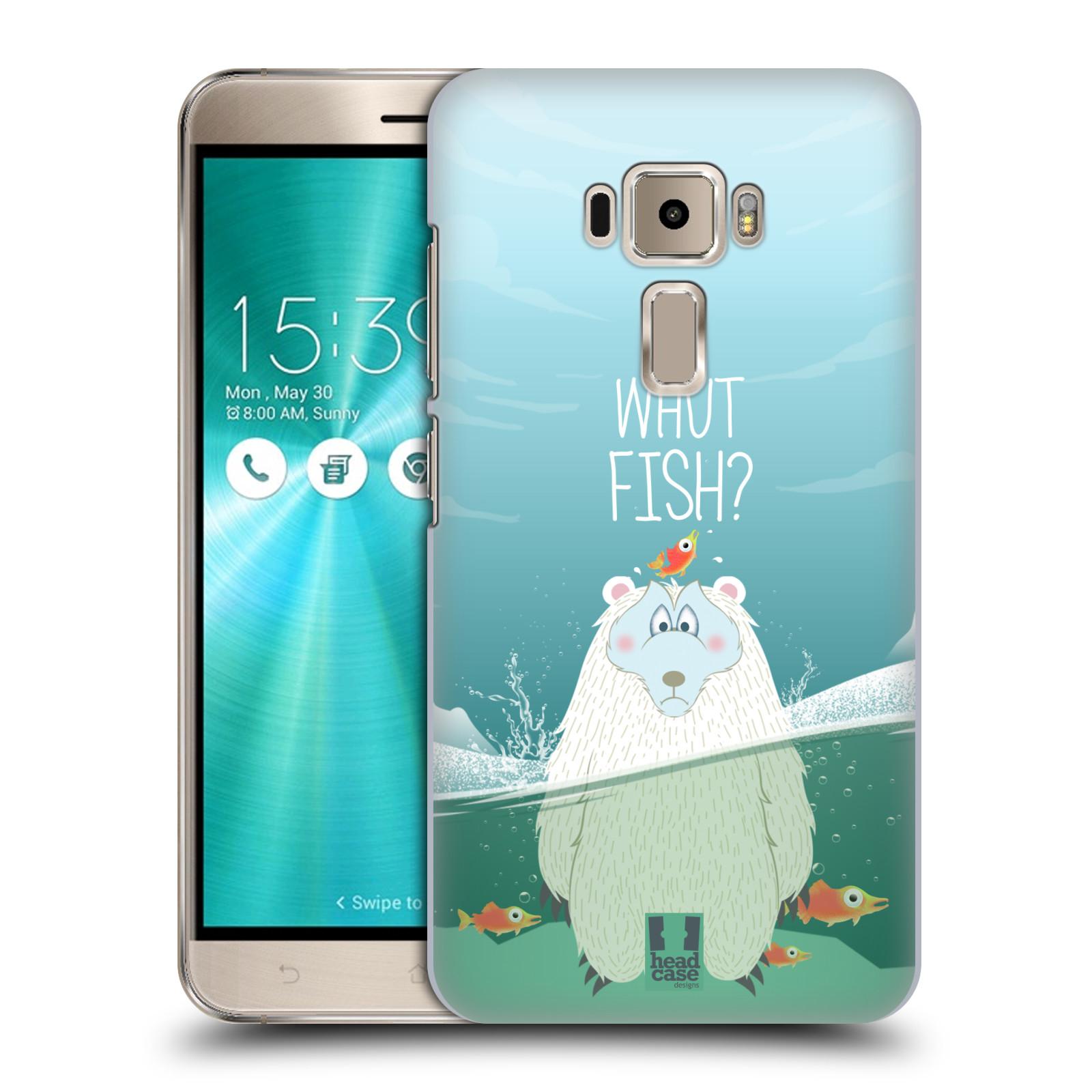 Plastové pouzdro na mobil Asus ZenFone 3 ZE520KL HEAD CASE Medvěd Whut Fish?
