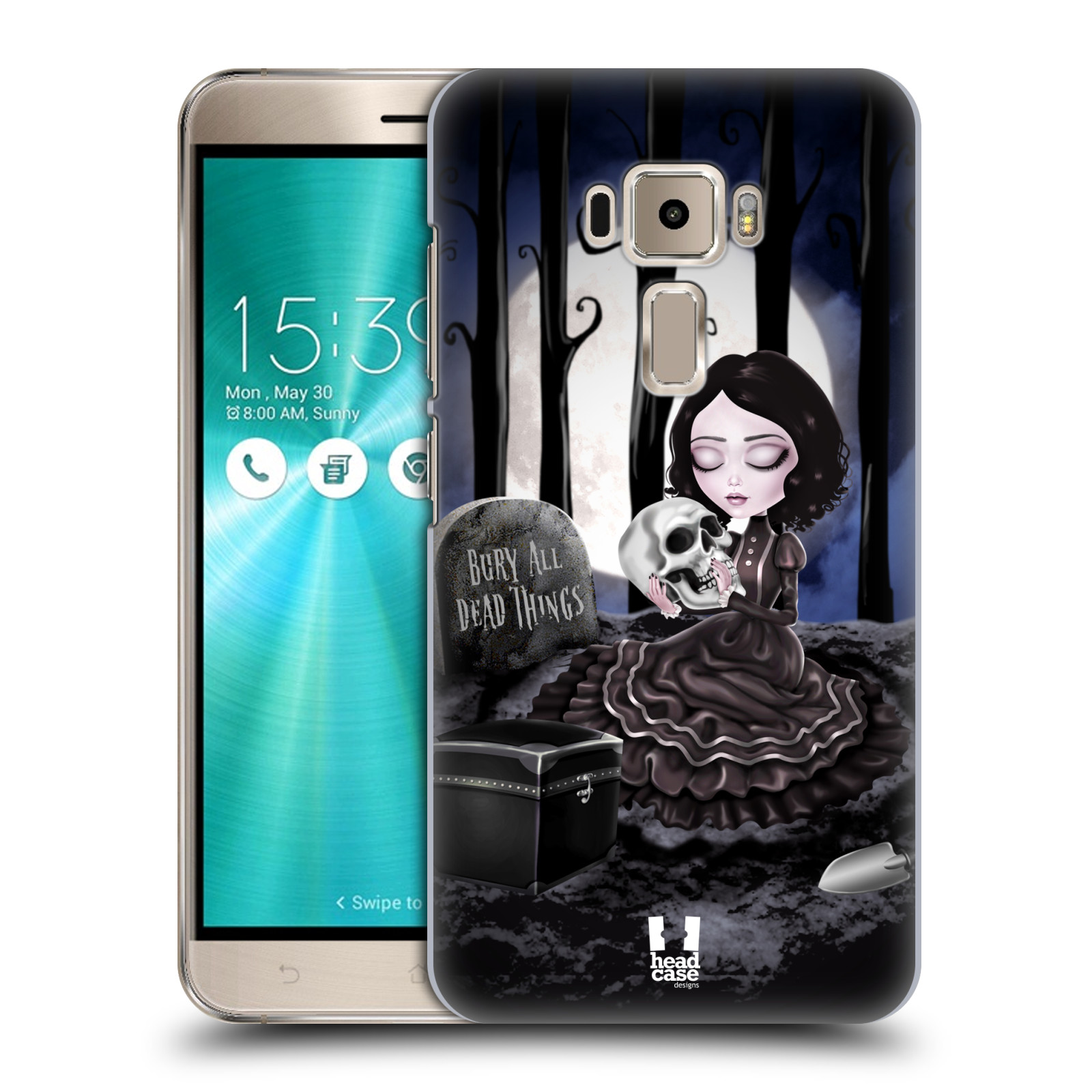 Plastové pouzdro na mobil Asus ZenFone 3 ZE520KL HEAD CASE MACABRE HŘBITOV