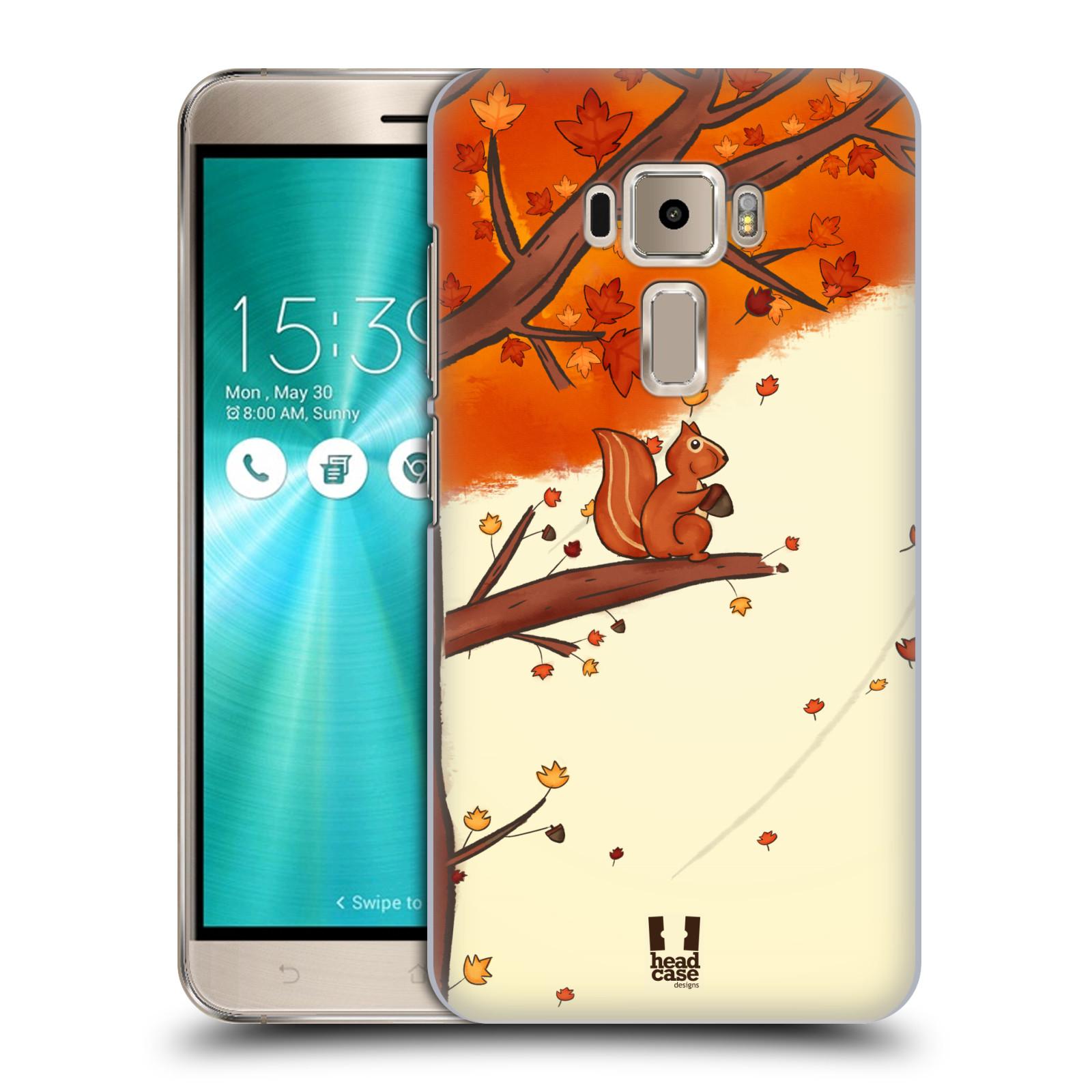 Plastové pouzdro na mobil Asus ZenFone 3 ZE520KL HEAD CASE PODZIMNÍ VEVERKA