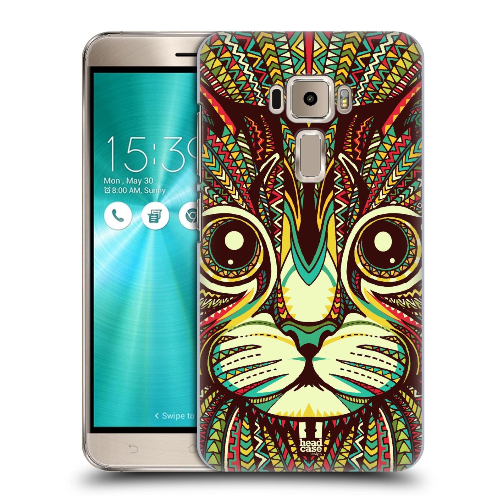 Plastové pouzdro na mobil Asus ZenFone 3 ZE520KL HEAD CASE AZTEC KOČKA