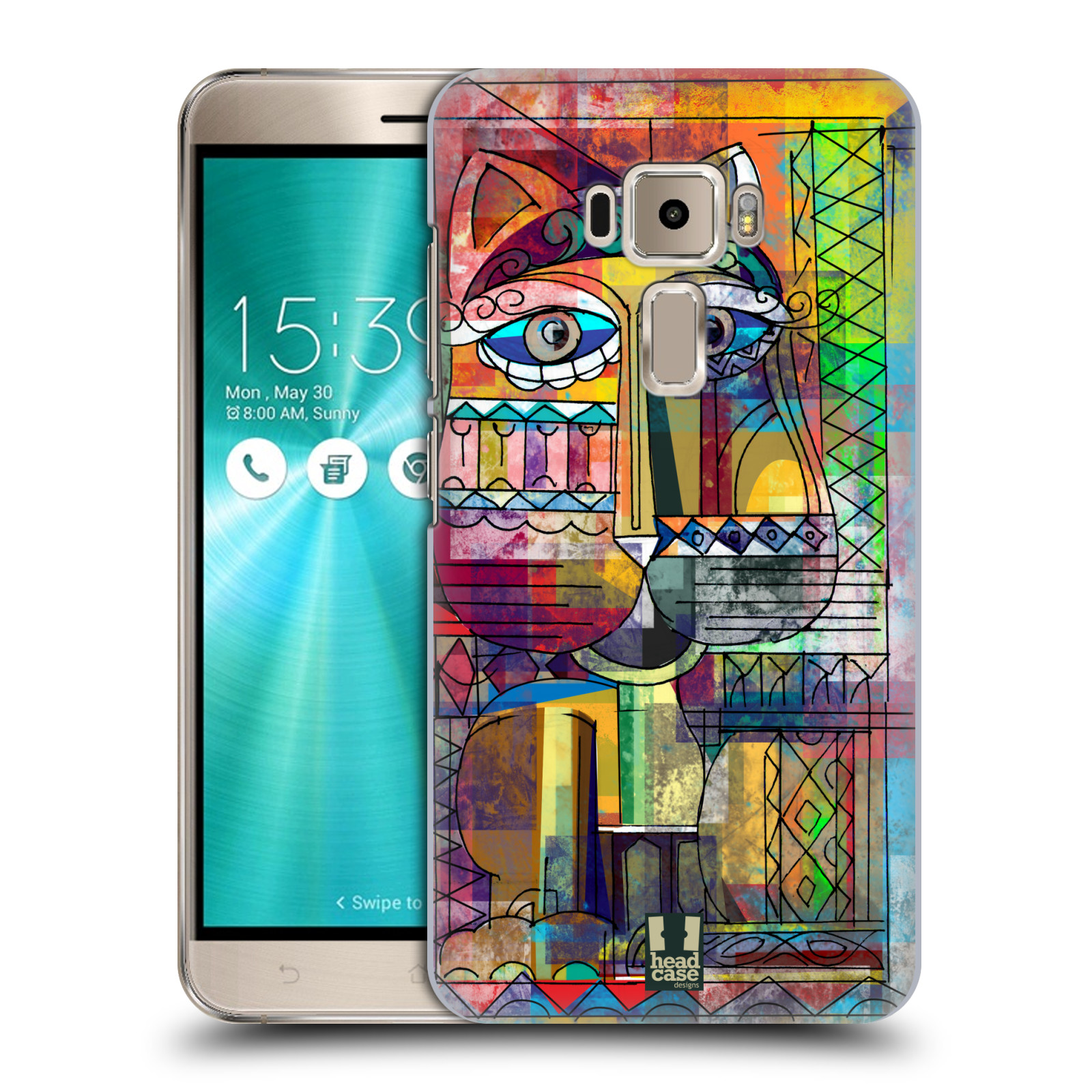 Plastové pouzdro na mobil Asus ZenFone 3 ZE520KL HEAD CASE AZTEC KORAT