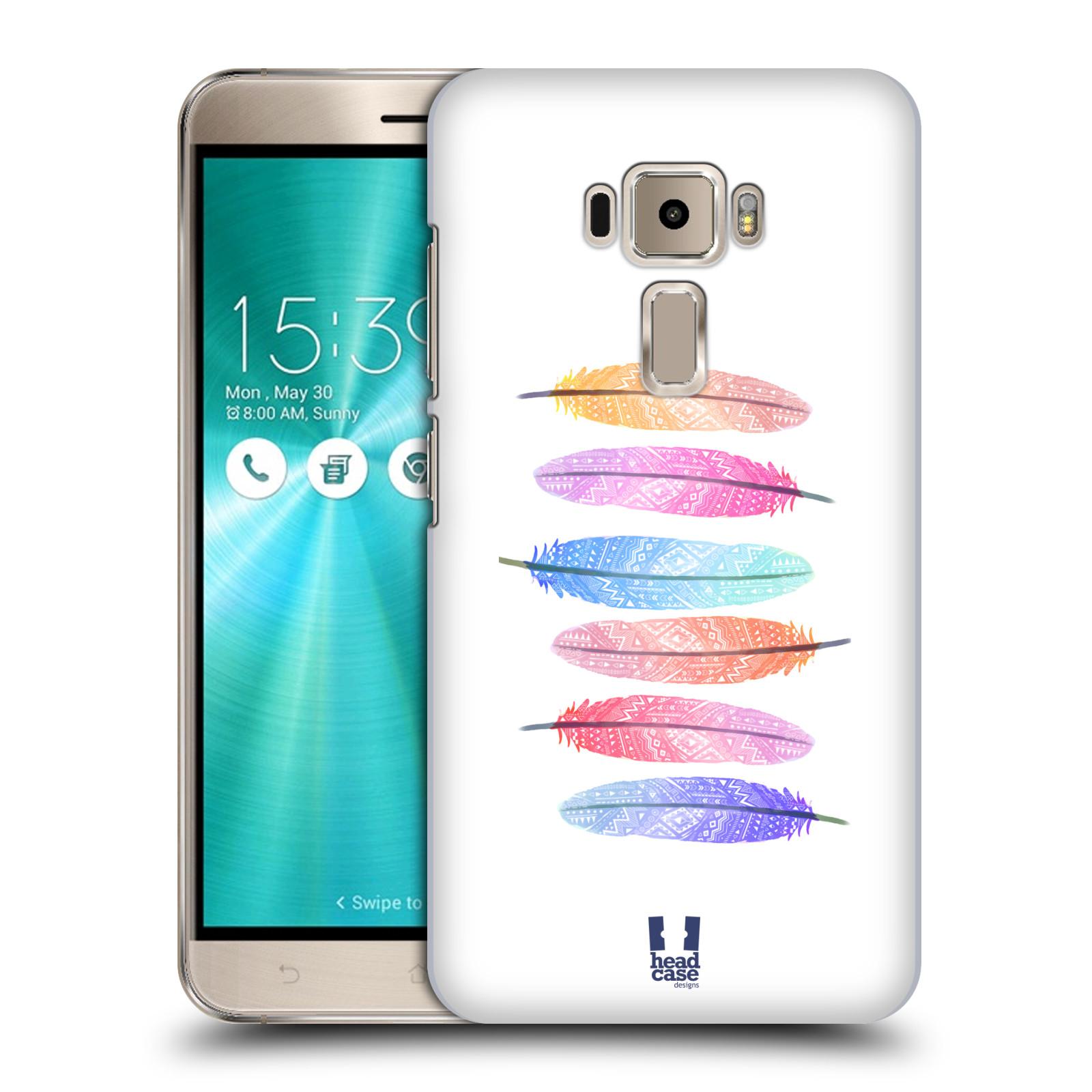 Plastové pouzdro na mobil Asus ZenFone 3 ZE520KL HEAD CASE AZTEC PÍRKA SILUETY