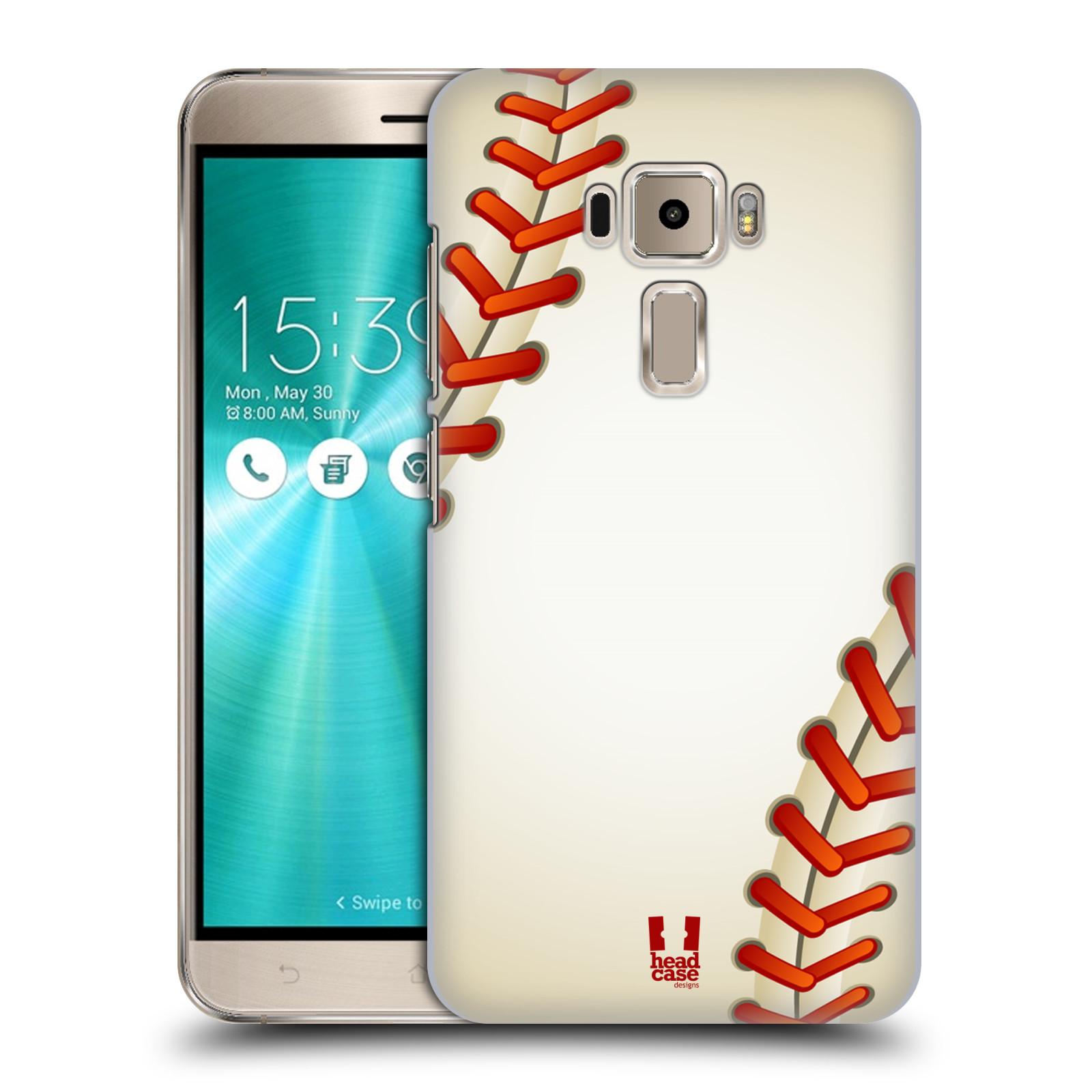 Plastové pouzdro na mobil Asus ZenFone 3 ZE520KL HEAD CASE Baseballový míček