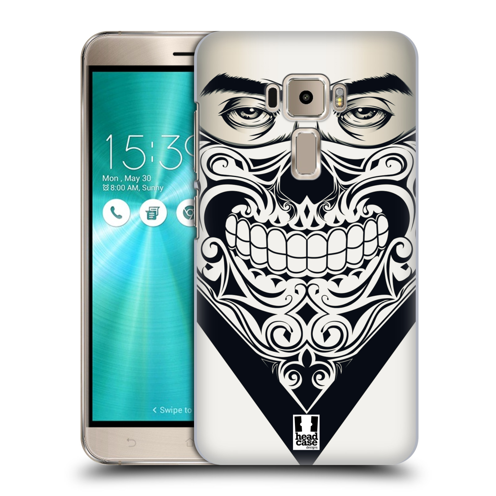 Plastové pouzdro na mobil Asus ZenFone 3 ZE520KL HEAD CASE LEBKA BANDANA